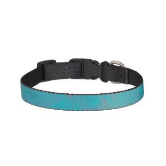 Blue Texture Dog Collar