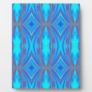 Blue texture plaque