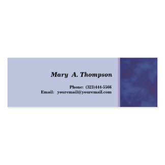 Blue texture side border Double-Sided mini business cards (Pack of 20)
