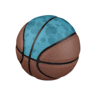 Blue Texture Splash Mini Basketball