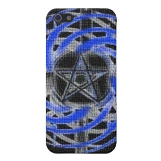 Blue Textured Abstract Pentagram Case For iPhone SE/5/5s