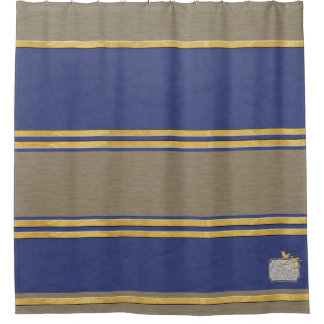 Blue And Gold Shower Curtains Zazzle - Purple and gold shower curtain