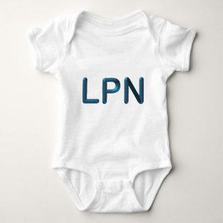Blue Textured LPN T-shirt