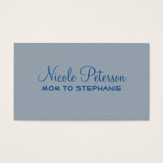 Blue Textured Mommy Card