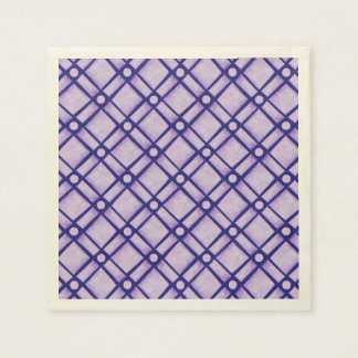 Blue Textured Square, Oblong and Circle Pattern Napkin
