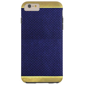Blue Textures with Gold Tips Cool iPhone 6 Case