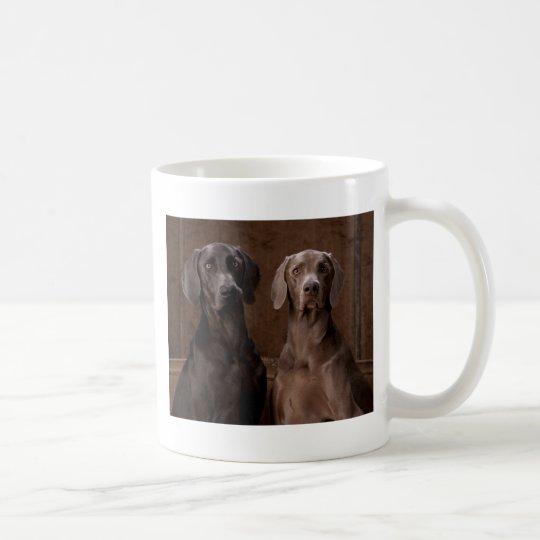 Blue & Teyla the Weimaraners Coffee Mug