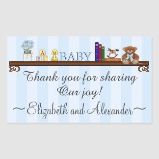 Blue Thank You For Sharing Our Joy Baby Rectangular Sticker