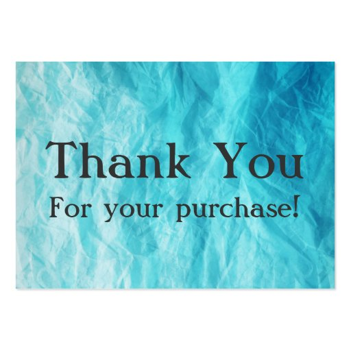 Blue Thank You For your Purchase Cards Business Cards