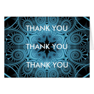 Blue - THANK YOU Greeting Card