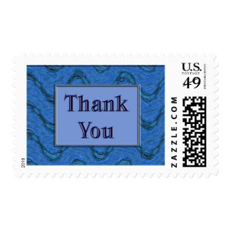Blue Thank You Stamp