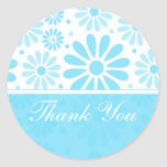 Blue Thank You Stickers