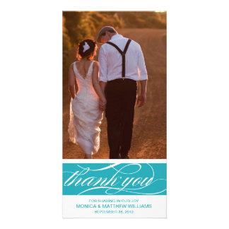 BLUE THANKS | WEDDING THANK YOU CARD PHOTO CARD