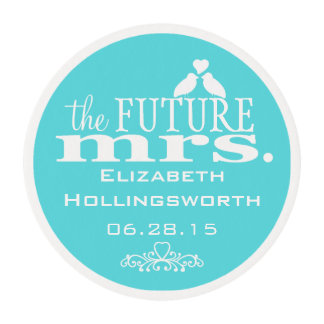 Blue - The Future Mrs - Bridal Shower Edible Frosting Rounds