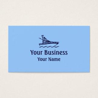 Blue theme speedboat custom business cards