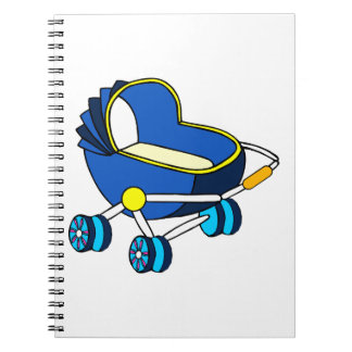 blue themed baby carriage graphic.png note books