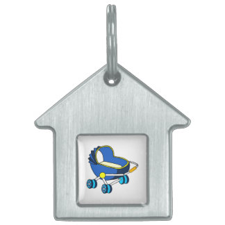blue themed baby carriage graphic.png pet tags