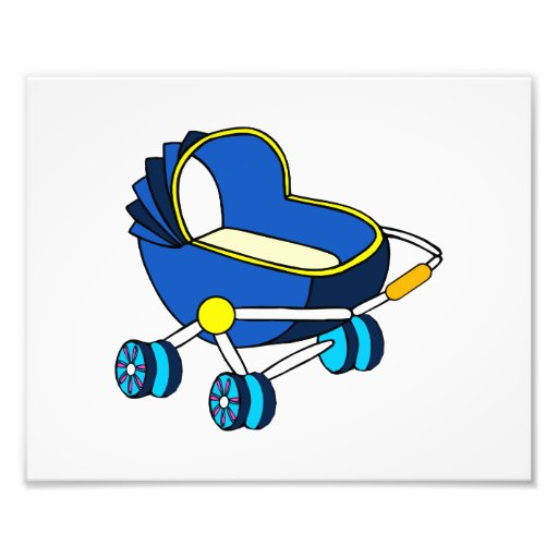 blue themed baby carriage graphic.png photo