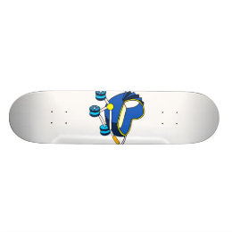 blue themed baby carriage graphic.png skateboard deck