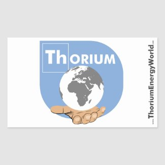 Blue Thorium Sticker, large