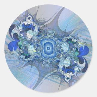 Blue thorn classic round sticker