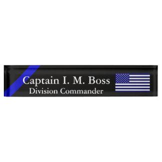 Blue Through and Through - Thin Blue Line Flag Name Plate