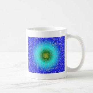 Blue through the net coffee mug
