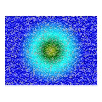 Blue through the net postcard