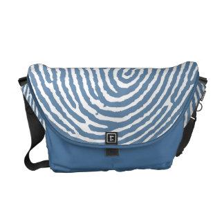 Blue Thumbprint Handmade Messenger Bags