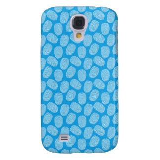 Blue Thumbprint Pattern Galaxy S4 Covers