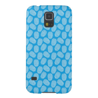Blue Thumbprint Pattern Case For Galaxy S5