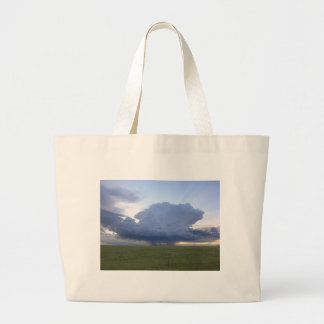 Blue Thunderhead Large Tote Bag