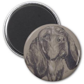 Blue Tick Coonhound 2 Inch Round Magnet