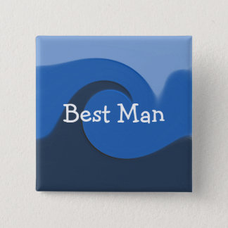 """Blue Tide"" -Best Man Button"