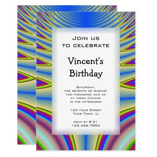 blue tie dye birthday party invitation zazzle com