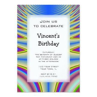 Blue Tie Dye Birthday Party Invitation