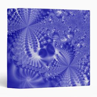 Blue Tie Dye Fractal Binder