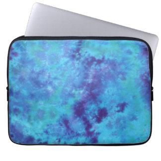 blue tie dye laptop case