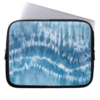 Blue Tie Dye Laptop Sleeve