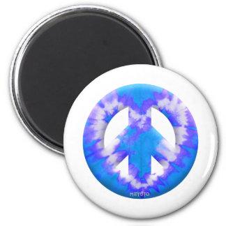 Blue Tie Dye Fridge Magnet