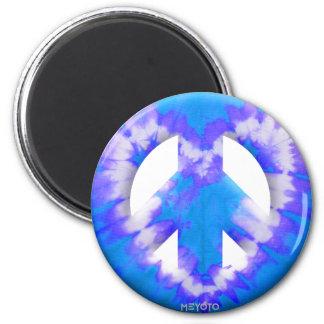 Blue Tie Dye Fridge Magnets