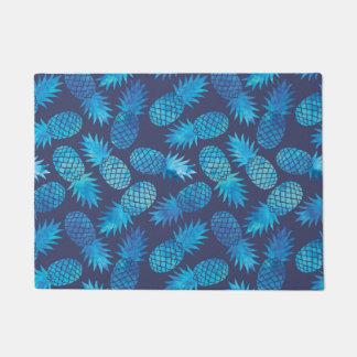 Blue Tie Dye Pineapples Doormat