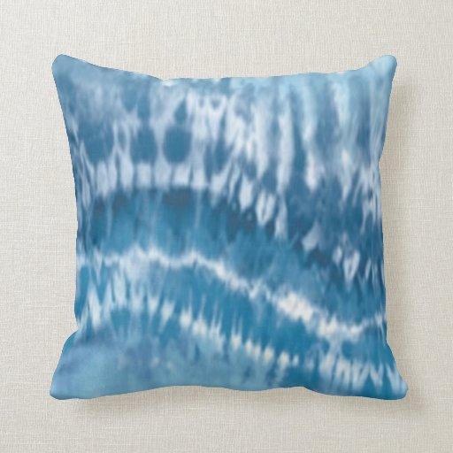 How To Make A Tie Throw Pillow : Blue Tie Dye Reversible Pillow Zazzle