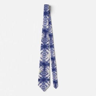 Blue tie dye tie