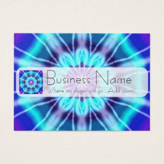Blue Tie Dye Tile 239 Business Card