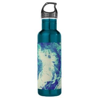 Blue Tie Dye Water Bottle