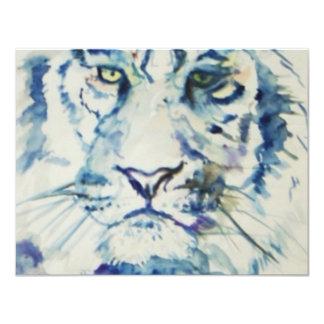 Blue Tiger 4.25x5.5 Paper Invitation Card