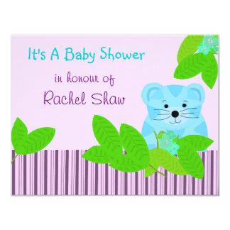"Blue Tiger Baby Shower Invitation 4.25"" X 5.5"" Invitation Card"