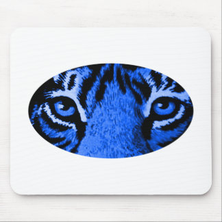 Blue Tiger Eyes The MUSEUM Zazzle Gifts Mouse Pad