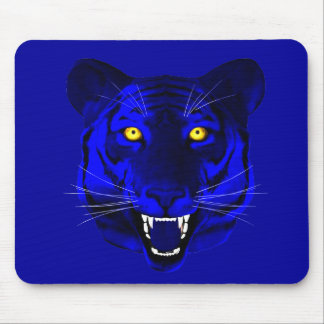 Blue Tiger Mouse Pad